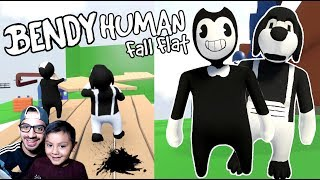 Bendy en el Mundo de Plastilina | Bendy and the Ink Machine Human Fall Flat | Juegos Karim Juega |