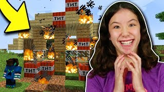 MY LITTLE SISTER TROLLED ME IN MINECRAFT!