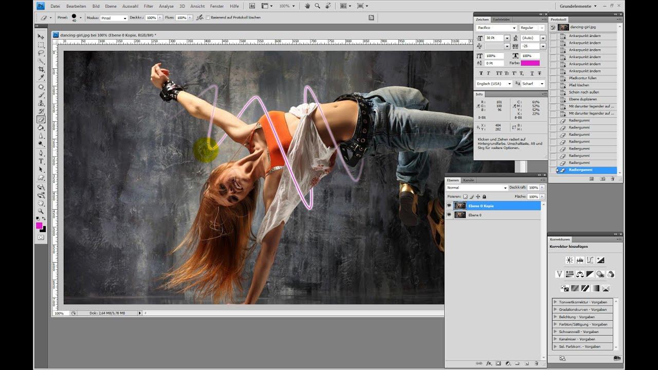 Lichtschweif Erstellen Photoshop Tutorial Youtube
