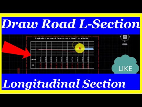 How to draw road longitudinal section or Profile in autocad and upload Lisp