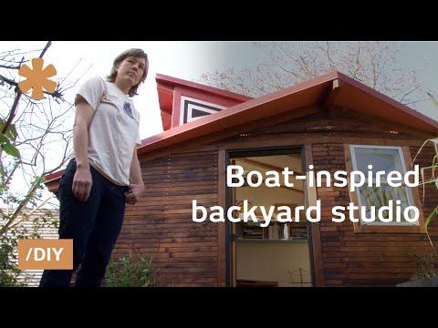 tiny backyard home office studio architect carpenter craft tiny 120sqft backyard studio youtube