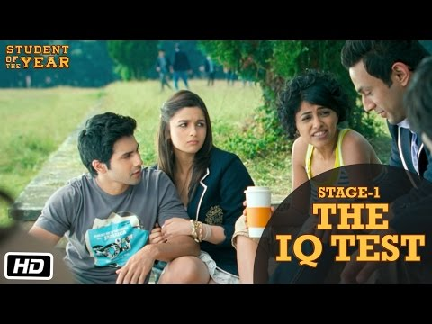 Stage 1: The IQ Test - Student Of The Year | Sidharth Malhotra, Alia Bhatt & Varun Dhawan