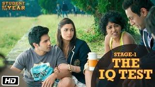 Stage 1: The IQ Test - Student Of The Year | Sidharth Malhotra, Alia Bhatt & Varun Dhawan