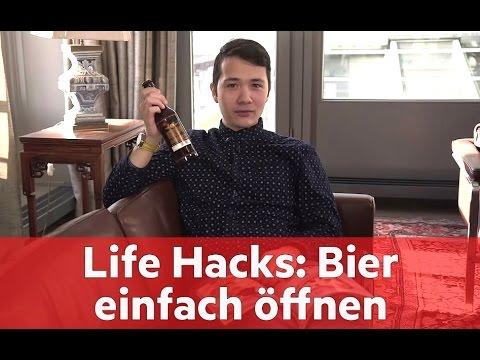 Life Hacks: So öffnen Sie eine Flasche Bier mit Papier