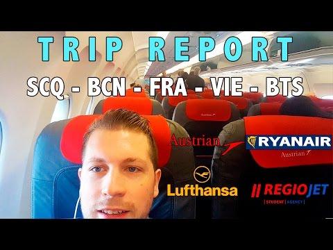 TRIP REPORT VLOG | SCQ-BCN-FRA-VIE-BTS | Santiago-Bratislava