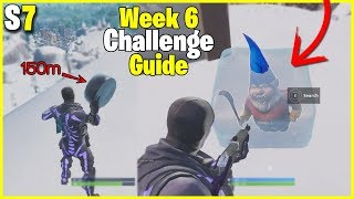Search For Chilly Gnomes + Slide an Ice Puck 150m | S7 Week 6 Challenge Guide Fortnite Battle Royale