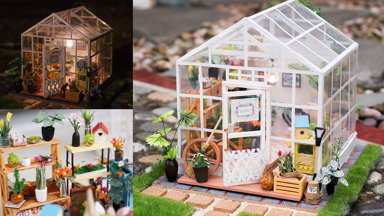 Diy Dollhouse Kit Miniature Greenhouse Cathy S Flower House With