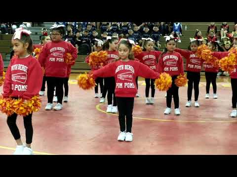 North Bergen Cheerleading Showcase 2017, Pom Poms Carrie Cheering!