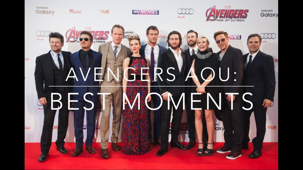 Avengers age of ultron cast funny moments youtube