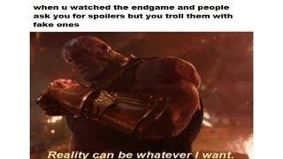 Avengers:Endgame Spoiler Stopping Memes(NO SPOILERS)