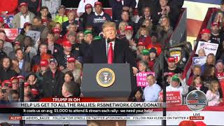 Trump Rally in Lebanon, OH (original video blocked by YouTube) 10-12-18