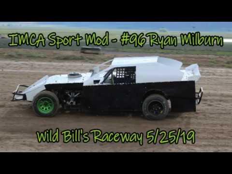 In Car - IMCA Sport Mod - #96 Ryan Milburn - Wild Bill's Raceway 5/25/19