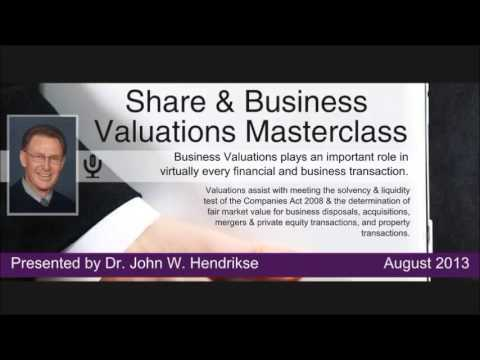 Dr. John Hendrikse on Share And Business Valuations