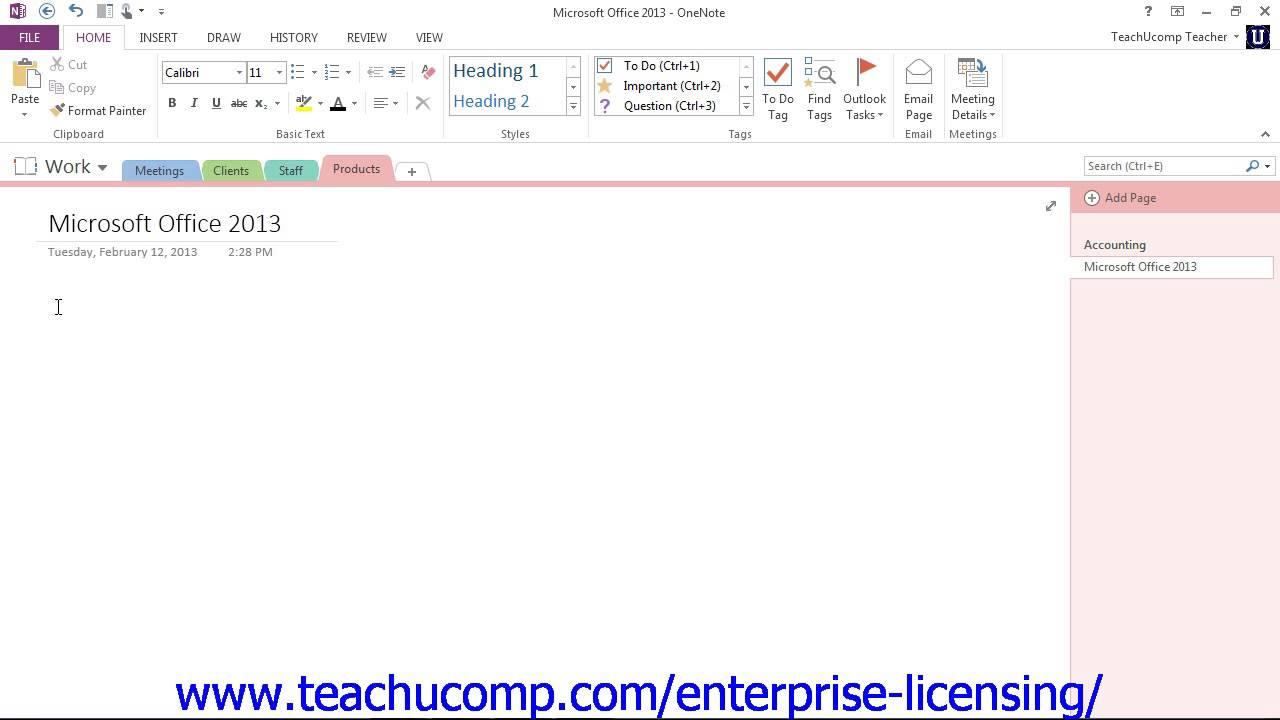 Microsoft office onenote 2013 tutorial notes 31 employee group microsoft office onenote 2013 tutorial notes 31 employee group training baditri Images