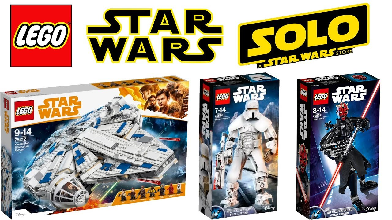 Lego Star Wars Han Solo a Star Wars Story 2018 Sets - YouTube 80a121455