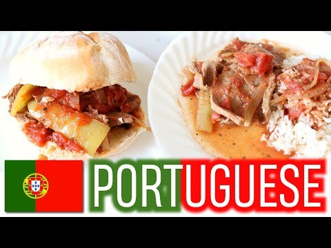COOK WITH ME - Portuguese Steak Sandwich & Meal Recipe!