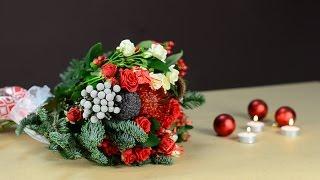 Букет своими руками на праздник. Как сделать букет(Как сделать букет своими руками – мастер-класс от флориста доставки цветов http://flora2000.ru/ Праздничный букет..., 2015-12-25T07:04:37.000Z)