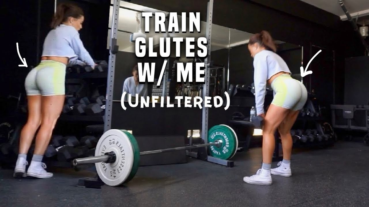 INTENSE GLUTE WORKOUT W/ NO SQUATS *real and raw workout with me*