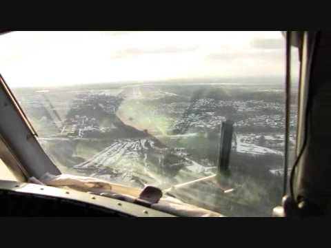 Ан-26.Заход на посадку в Нижневартовске с курсом 206°