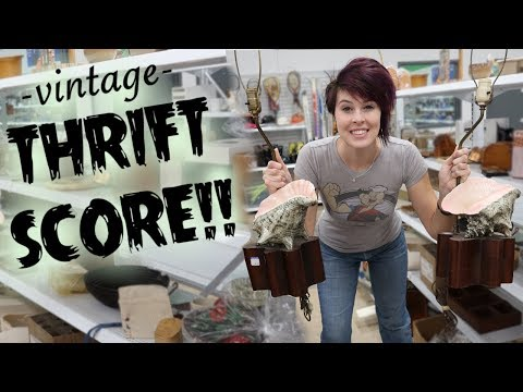 Vintage SCORE at the Thrift Store | Antiques Buying & Reselling | Crazy Lamp Lady