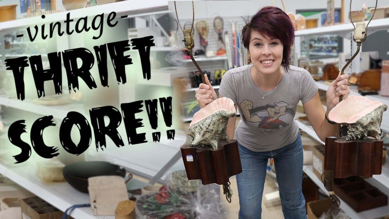 Vintage Score At The Thrift Store Antiques Buying Reselling Crazy Lamp Lady Youtube
