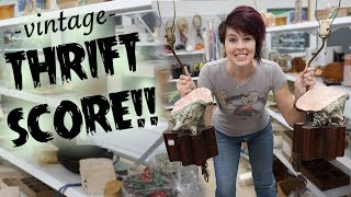 Vintage SCORE at the Thrift Store   Antiques Buying & Reselling   Crazy Lamp Lady