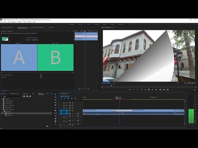 Premiere Pro Eğitimi 16 -  Görüntüler arası Geçiş Efekti