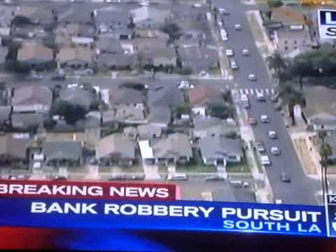 Bank Robbery Pursuit in South Los Angeles