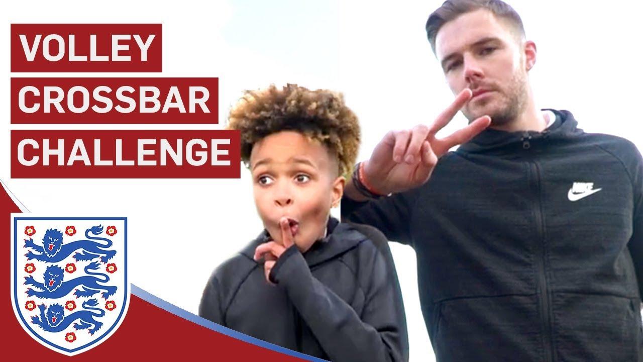 Butland Takes On Tekkerz Kid and Romello! | Volley Crossbar Challenge | U17 Euros