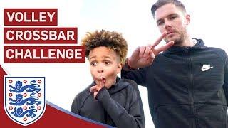 Butland Takes On Tekkerz Kid and Mello! | Volley Crossbar Challenge | U17 Euros