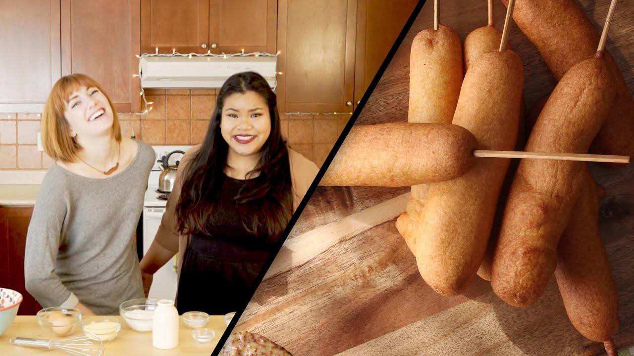 Homemade Corn Dogs | Julie Nolke & Jen Phanomrat