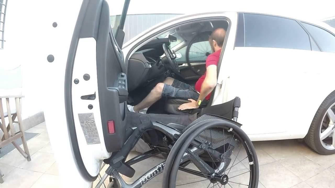 Transferencia al coche y silla de ruedas por tetrapl jico - Silla de ruedas de transferencia plegable y portatil ...