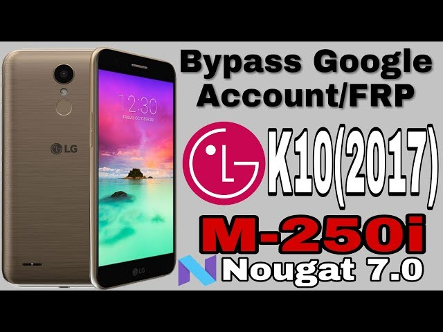 bypass google account android 7 1