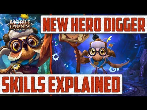 Mobile Legends: Digger New Hero! Skills Explained and Showcased!