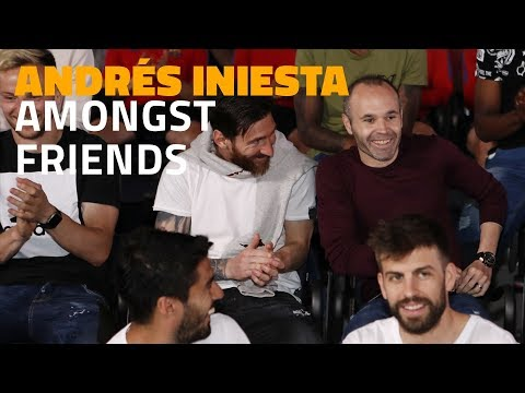 Andrés Iniesta amongst friends: football talks