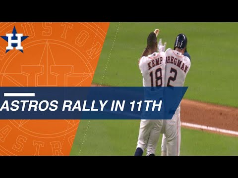 Astros string together wild walk-off rally with bizarre finish