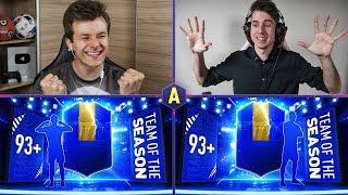 2x TOTS 93+ W PACK AND PLAY! CO ZA TRAFY! | ADRYAN VS ZWYKŁY KIBIC | FIFA 19