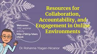 K12 Online Teaching Webinars: Resources for Collaboration and Accountability in Online Environments