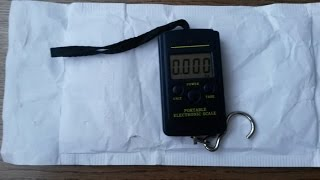 Весы электронные с точностью в 10 грамм за 9$ c Ebay