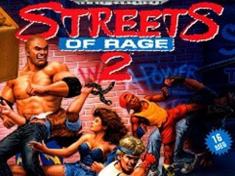 Retro Video Game Art Packages 8 Streets Of Rage 2 For
