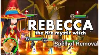 SUMMONERS WAR : Rebecca the Fire Mystic Witch (Dragons/Arena)