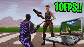 I found a GIRL on Fortnite that plays on a Laptop with 10FPS!