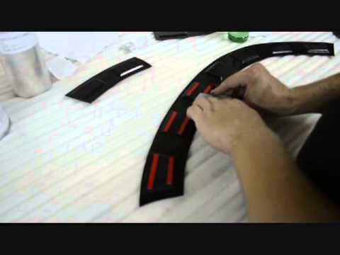 Монтаж накладок на крылья Renault Duster (расширители арок) - YouTube