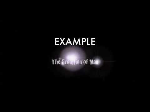 EXAMPLE - The Evolution of Man (Explicit)