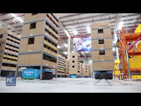 robots-deliver-goods-in-china's-largest-smart-warehouse