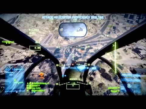 BF3 Attack Helicopter Gameplay (74-0): Rush Attack on Kharg Island (FULL Round) [HD]