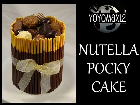 Chocolate Nutella Pocky Cake -with yoyomax12