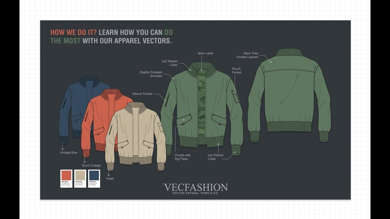 How To Edit Vector Fashion Cads In Adobe Illustrator Vecfashion Templates Co