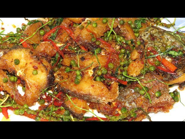 Spicy Fried Fish Recipe Cambodian Style - Homemade Food In Asian Country