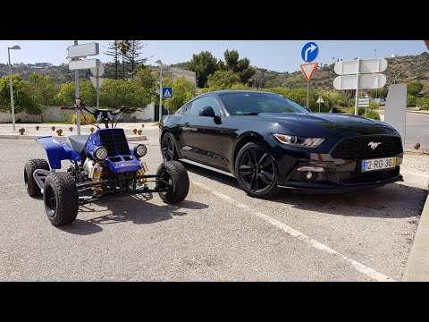 Ford Mustang & Yamaha Banshee 350 Top Speed GoPro Onboard